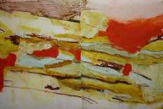 Burren, oil on tracing paper, 30'' x 40'', 2009