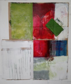 4. Carboard Flag Collage, Mixed Media, 60 x 54